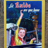 EXIDE AUTO PRODUCTS Playing Card 1920s