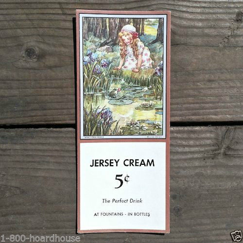 JERSEY CREAM FARM Frog Prince Ink Blotter 1920s