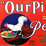 OUR PICK PEARS Fruit Cate Box Label 1930s