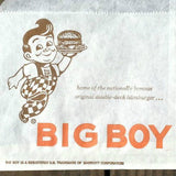 BOB'S BIG BOY RESTAURANT Hamburger Bag 1960s