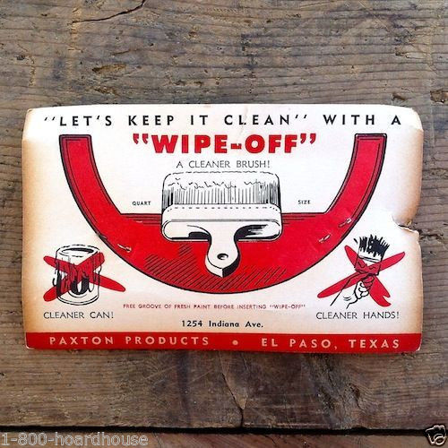 WIPE-OFF PAINT BRUSH Gadget Clean Can 1940s