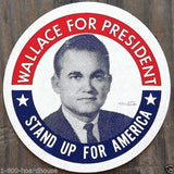 WALLACE FOR PRESIDENT Campaign Decal 1960s