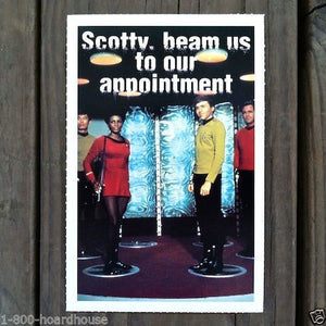 STAR TREK BEAM US UP Appointment Postcard 1992