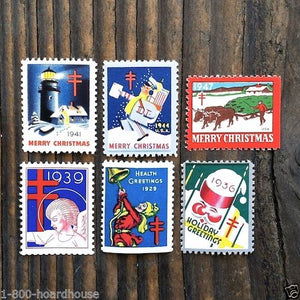 CHRISTMAS SEAL STAMPS Holiday Collection 1930s-70s