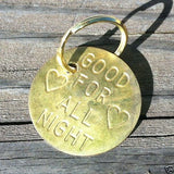 GOOD FOR ALL NIGHT Token Keychain 1960s