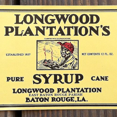 LONGWOOD PLANTATION'S SYRUP Can Labels 1930s
