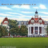 MOUNT ST. MARY NH Linen Postcard 1930s