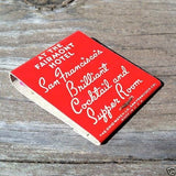 CIRQUE Fairmont Hotel Matchbook Matches 1950s