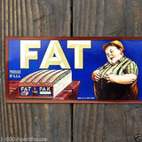 FAT PAK Fruit Crate Box Label 1930s