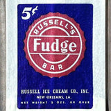 RUSSELL'S FUDGE BAR Ice Cream Snack Bag 1940s