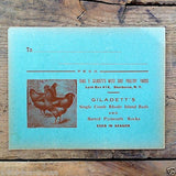 WEST SIDE POULTRY YARDS Invitation Card 1910