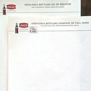 COCA-COLA Bottlers Plant Coke Letterhead Stationary 1950s