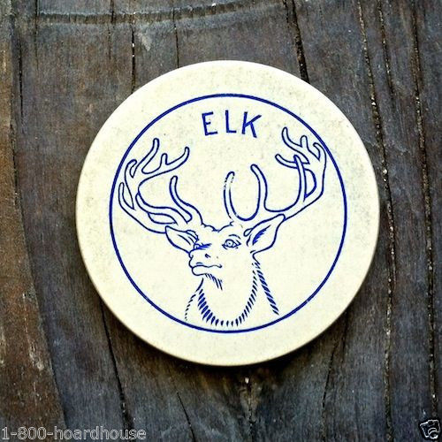 CASINO CLAY POKER Elk Chip 1920
