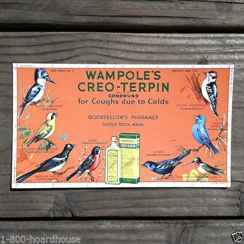 WAMPOLE'S CREO-TERPIN Goodfellows Ink Blotter 1910s
