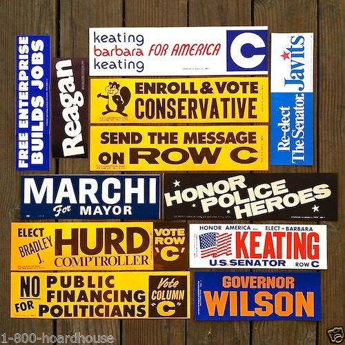 POLITICAL Car Bumper Sticker Collection