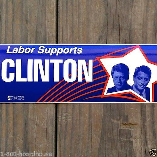 BILL CLINTON Car Bumper Sticker 1996