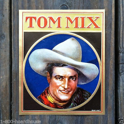 TOM MIX CIGAR Box Label Set 1920s
