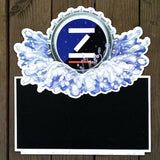 ZIMA COORS BEER Chalkboard Metal Sign 1990s
