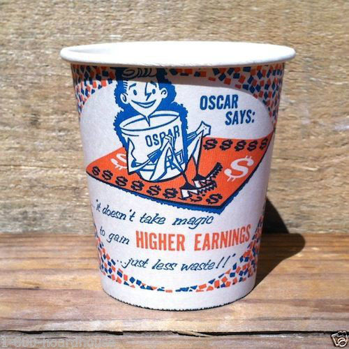 OSCAR SAYS Sample Chores Cup 1950s