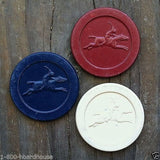 CASINO CLAY POKER Chip Horse Jockey 1920