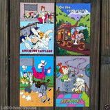 FRED FLINTSTONE Jetsons TV Cartoon Postcards 1987