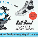 BALL BAND Canvas Sports Shoes Ink Blotter 1950s