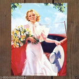 WORLD OF SUNSHINE Art Lithograph Pinup Print 1940s