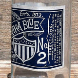 AMERICAN EXTRA BLUE Glass Bottle 1920s