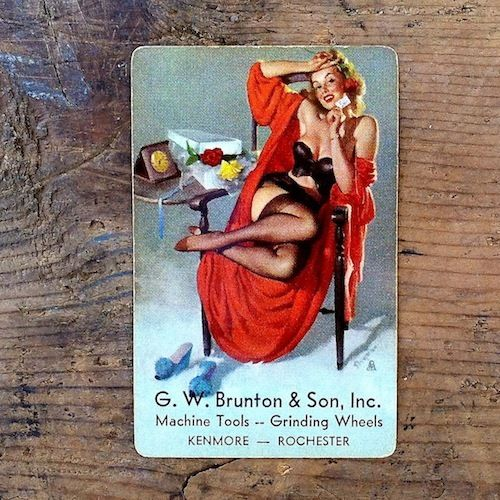 ELVGREN REMEMBERANCE PINUP GIRL Playing Card