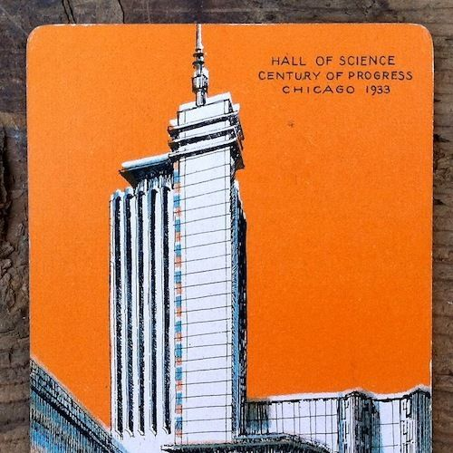 Old CENTURY OF PROGRESS WORLD'S FAIR Playing Card