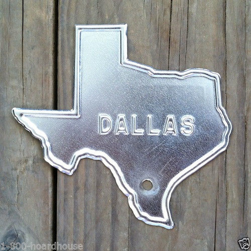 DALLAS TEXAS License Plate Topper 1940s