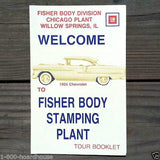 FISHER BODY STAMPING PLANT Tour Booklet 1970s