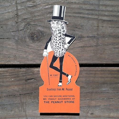 MR. PEANUT Planters Figural Bookmark 1940s