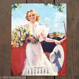 LUCKY STRIKE World of Sunshine Pinup Lithograph Calendar 1939
