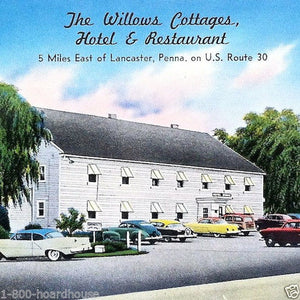 WILLOWS COTTAGE HOTEL Postcard 1950s