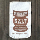 CONTINENTAL SALT Cloth Salt Bag 1930s
