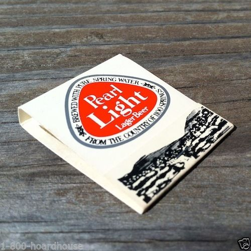 PEARL LIGHT LAGER BEER Matchbook Matches 1960s