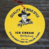 HOPALONG CASSIDY ICE CREAM Ceiling Fan Sign 1950s