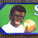 SNOW BALL Orange Fruit Crate Box Label 1940s