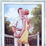 TENNIS Cartoon Couple Postcard Set 1920s