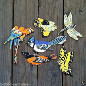 BIRDS BEES INSECTS Figural Cardboard Sign Collection 1950s