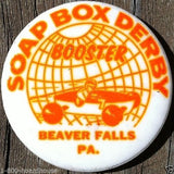 SOAP BOX DERBY Pin Pinback 1950s