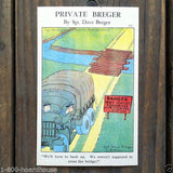 PRIVATE BREGER COMICAL Soldier WW2 Postcards 1943