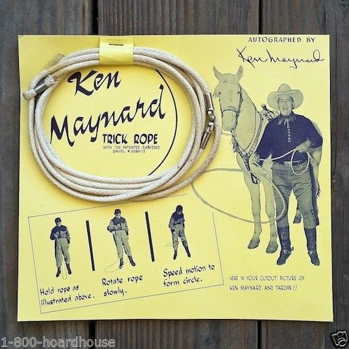 KEN MAYNARD TRICK ROPE Toy Display 1950