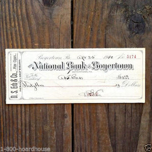 D.S. ERB CIGARS Company Business Checks 1910s