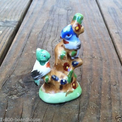 Occupied Japan BIRDS ON TREE Figurine Statue 1940s