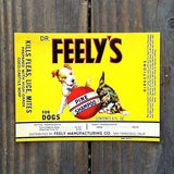 DR. FEELY'S Dog Shampoo Label 1940s