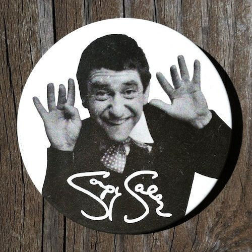 SOUPY SALES TV Pinback Pin 1960s