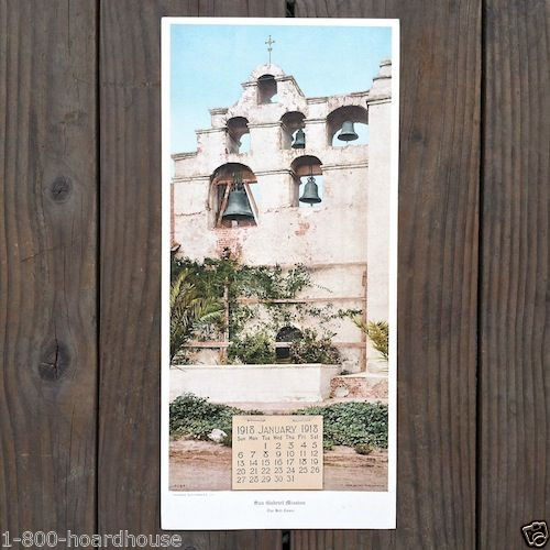 SAN GABRIEL MISSION CHURCH Promotional Store Calendar 1918