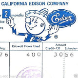 REDDY KILOWATT So Cal Edison Utility Receipt 1962